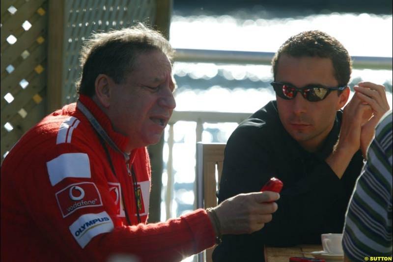 Jean and Nicolas Todt, Canadian GP, Saturday June 12th, 2004.