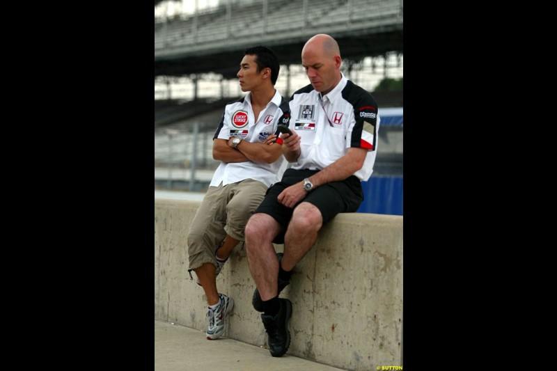 Takuma Sato, BAR. United States GP, Indianapolis. June 17th, 2004.