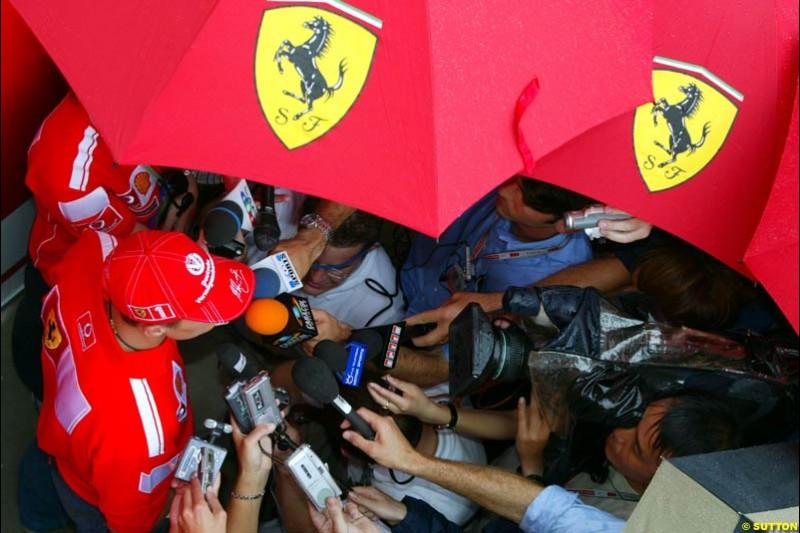 Michael Schumacher, Ferrari. United States GP, Indianapolis. June 17th, 2004.