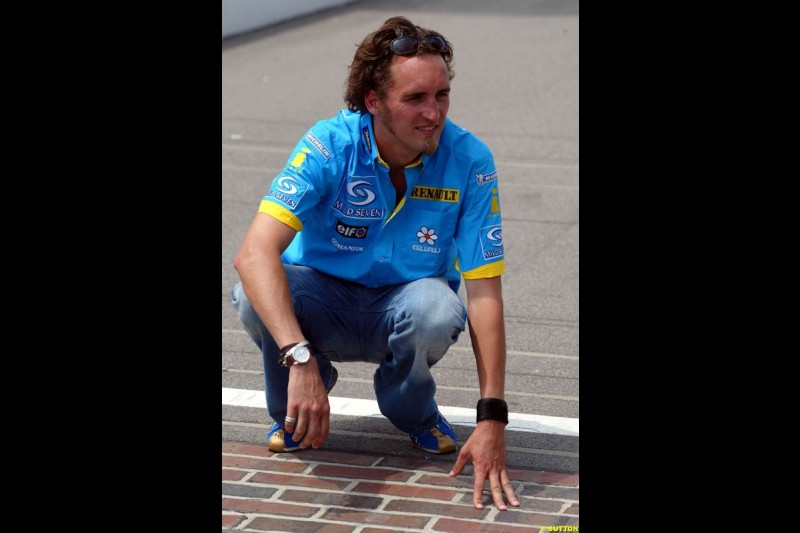 Franck Montagny, Renault. United States GP, Indianapolis. June 17th, 2004.