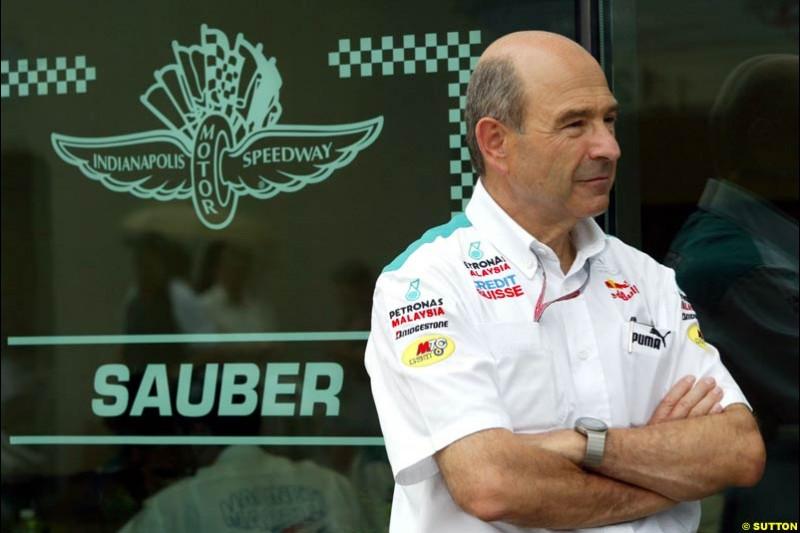 Peter Sauber. United States GP, Indianapolis. June 17th, 2004.