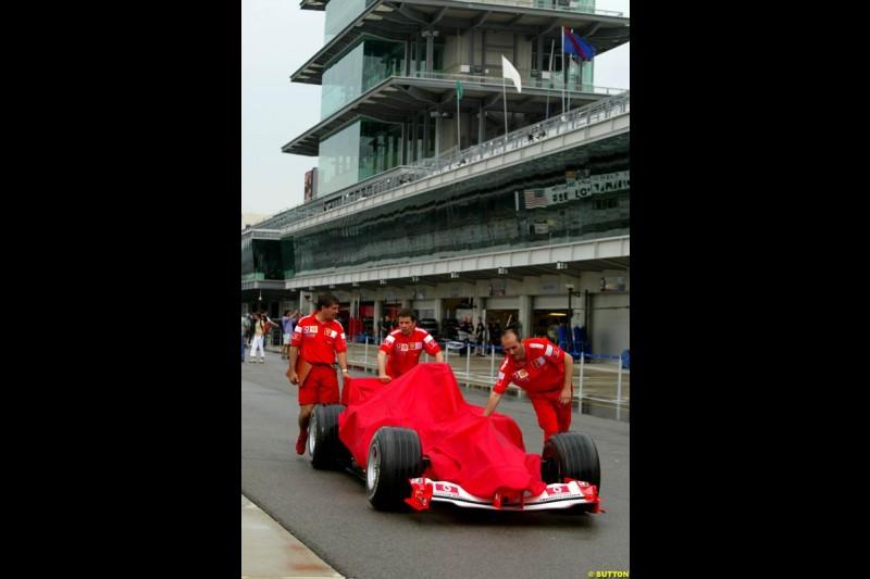 Ferrari. United States GP, Indianapolis. June 17th, 2004.