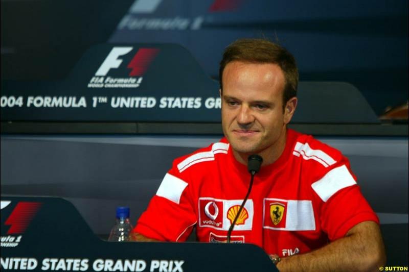 Rubens Barrichello, United States GP, Thursday June 17th, 2004.