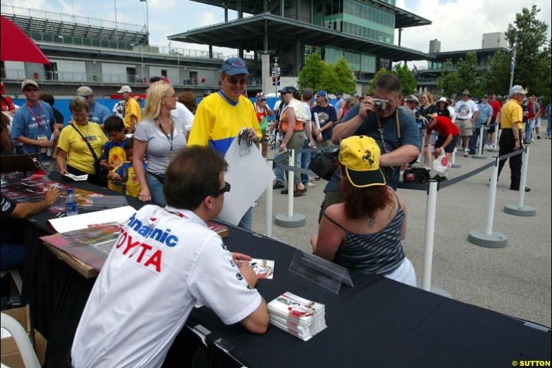 Olivier Panis, United States GP, Thursday June 17th, 2004.