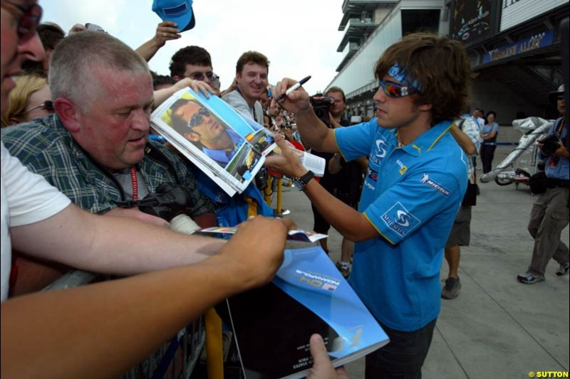 Fernando Alonso, United States GP, Thursday June 17th, 2004.