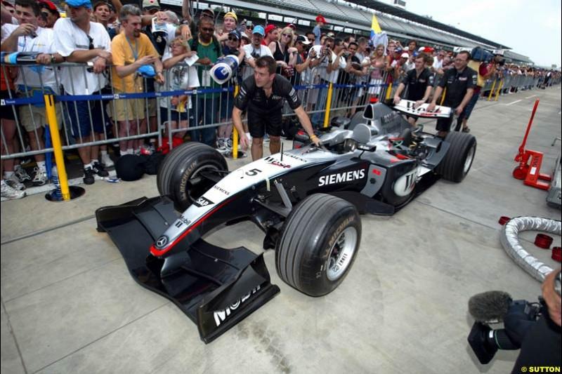 Mclaren-Mercedes, United States GP, Thursday June 17th, 2004.