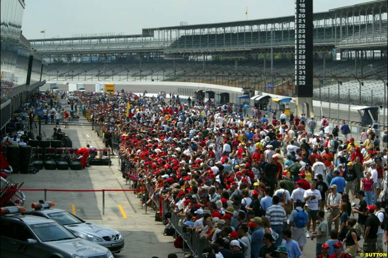 United States GP, Thursday June 17th, 2004.