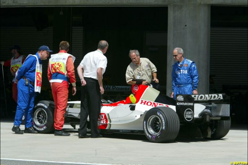 BAR-Honda, United States GP, Saturday June 19th, 2004.