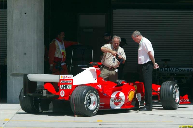 Ferrari, United States GP, Saturday June 19th, 2004.