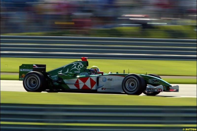 Mark Webber, Jaguar, United States GP, Saturday June 19th, 2004.