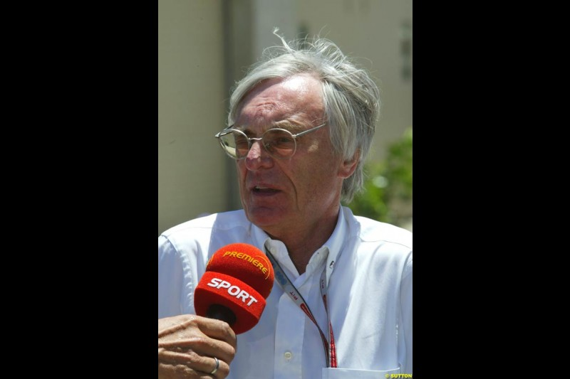 Bernie Ecclestone, United States GP, Saturday June 19th, 2004.