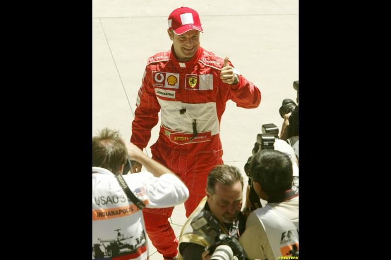 Rubens Barrichello, United States GP, Saturday June 19th, 2004.