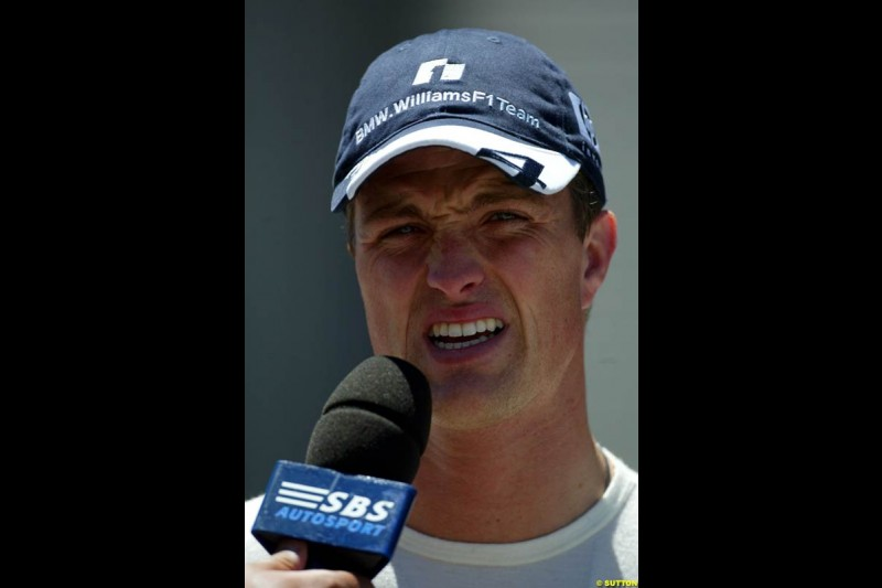 Ralf Schumacher, United States GP, Saturday June 19th, 2004.