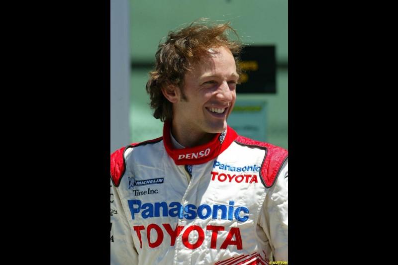 Cristiano da Matta, United States GP, Saturday June 19th, 2004.