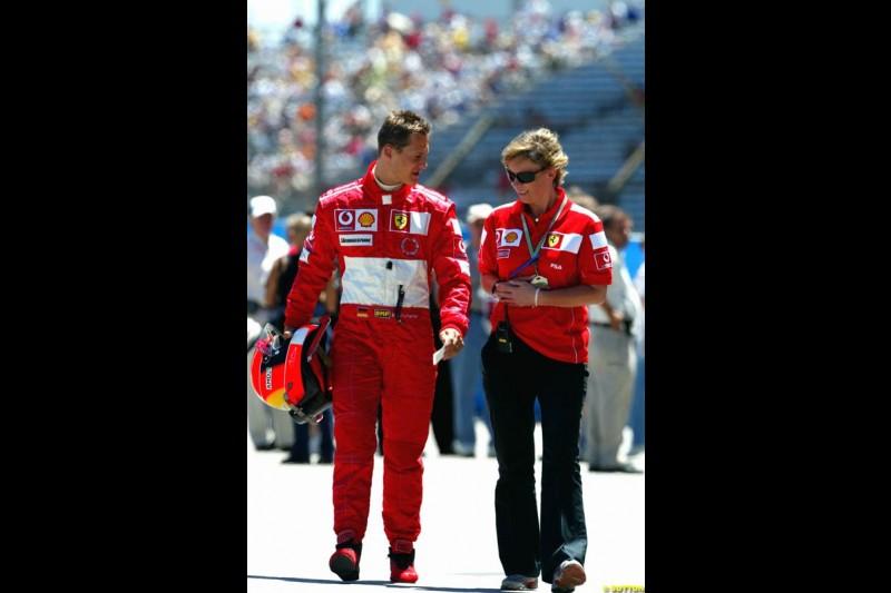 Michael Schumacher, United States GP, Saturday June 19th, 2004.