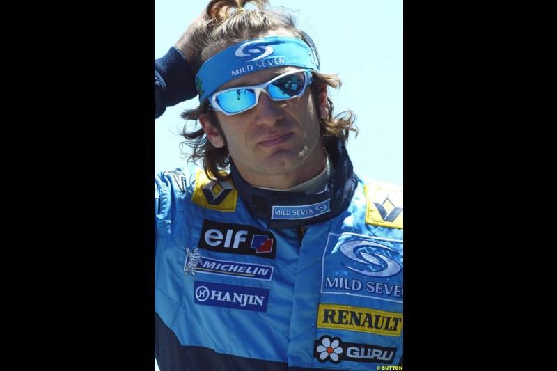 Jarno Trulli, United States GP, Saturday June 19th, 2004.