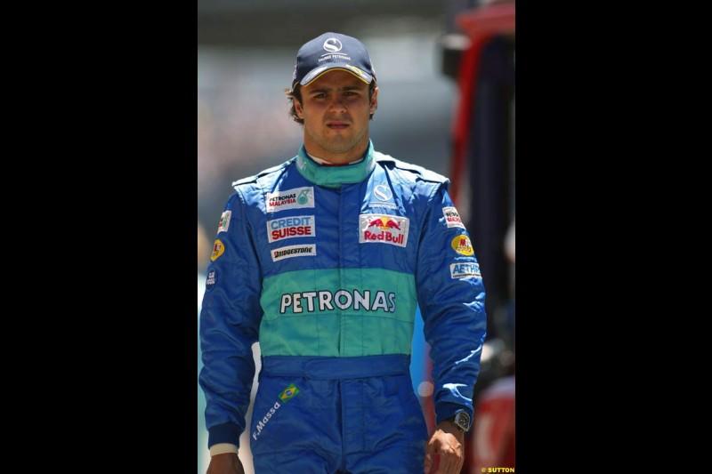 Felipe Massa, United States GP, Saturday June 19th, 2004.