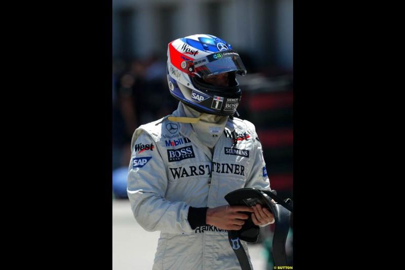 Kimi Raikkonen, United States GP, Saturday June 19th, 2004.