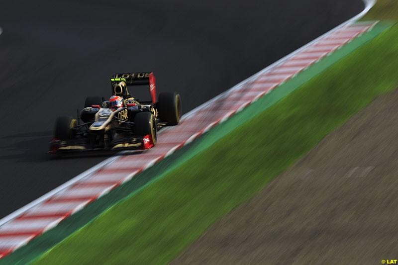 Romain Grosjean, Lotus E20, Practice, Formula One World Championship, Round 15, Japanese Grand Prix, Suzuka Circuit, Mie Prefecture, Japan. Friday 5 October 2012.