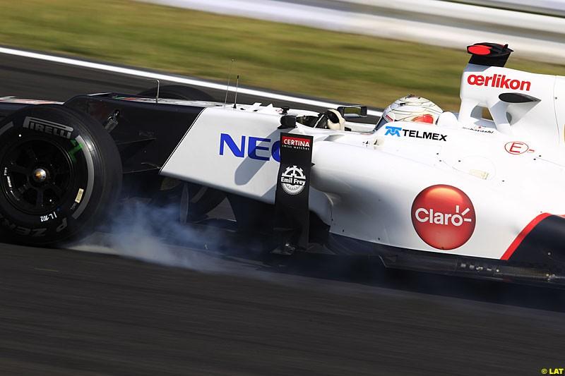 Kamui Kobayashi, Sauber C31, Practice, Formula One World Championship, Round 15, Japanese Grand Prix, Suzuka Circuit, Mie Prefecture, Japan. Friday 5 October 2012.