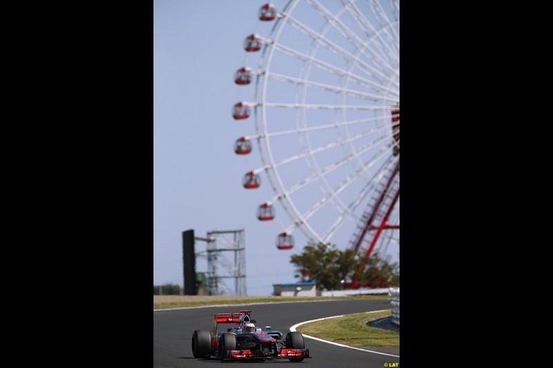 Jenson Button, McLaren MP4-27, Practice, Formula One World Championship, Round 15, Japanese Grand Prix, Suzuka Circuit, Mie Prefecture, Japan. Friday 5 October 2012.