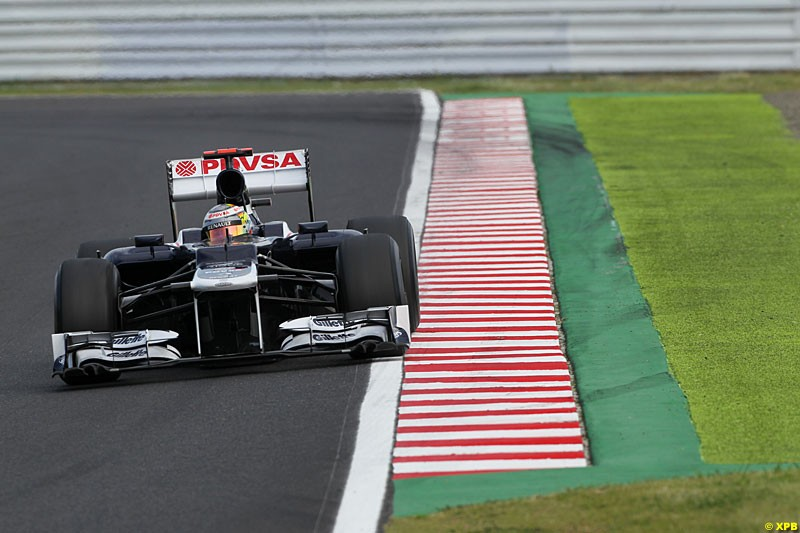 Pastor Maldonado, Williams FW34, Practice, Formula One World Championship, Round 15, Japanese Grand Prix, Suzuka Circuit, Mie Prefecture, Japan. Friday 5 October 2012.