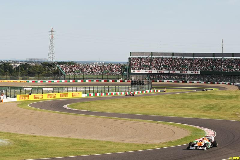 Nico Hulkenberg, Force India VJM05, Practice, Formula One World Championship, Round 15, Japanese Grand Prix, Suzuka Circuit, Mie Prefecture, Japan. Friday 5 October 2012.