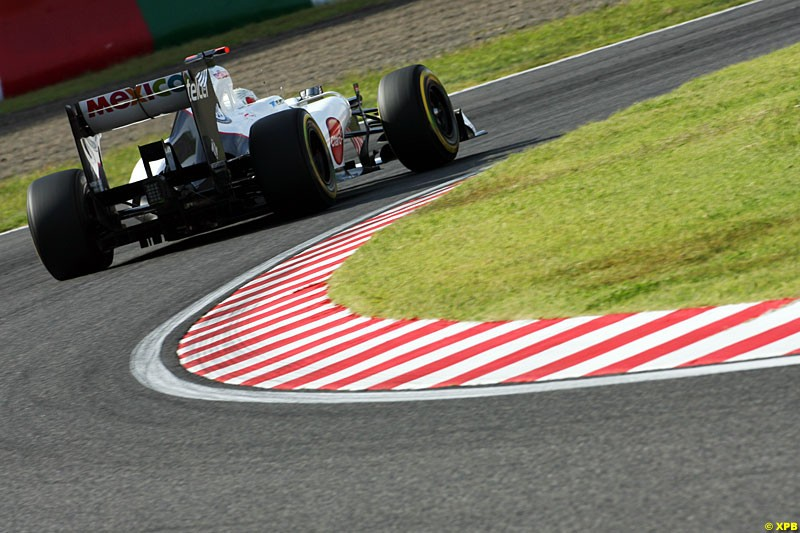 Sergio Perez, Sauber C31, Practice, Formula One World Championship, Round 15, Japanese Grand Prix, Suzuka Circuit, Mie Prefecture, Japan. Friday 5 October 2012.