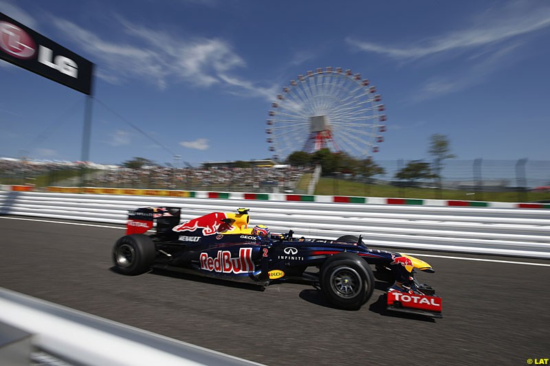 Mark Webber, Red Bull RB8, Practice, Formula One World Championship, Round 15, Japanese Grand Prix, Suzuka Circuit, Mie Prefecture, Japan. Friday 5 October 2012.