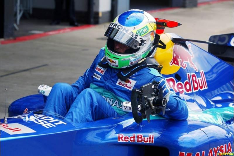 Giancarlo Fisichella, Sauber-Petronas, British GP, Friday July 9th, 2004.