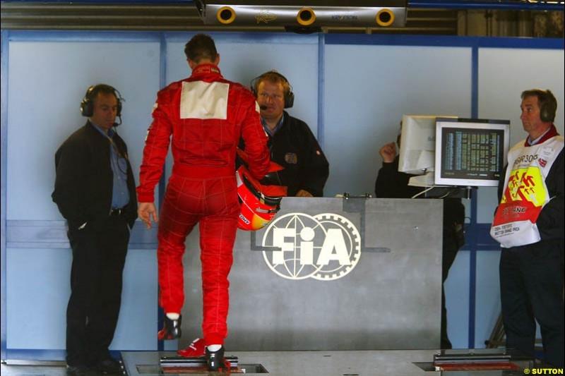 Michael Schumacher, British GP, Friday July 9th, 2004.