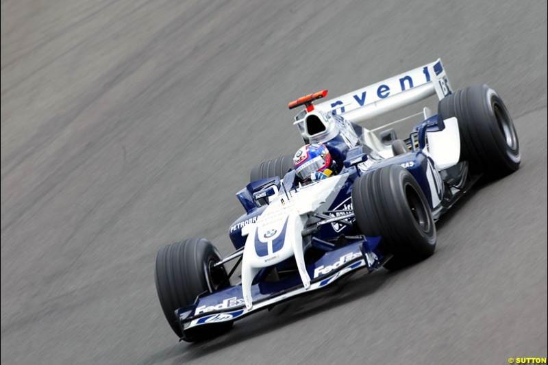 Juan Pablo Montoya, BMW-Williams, British GP, Friday July 9th, 2004.