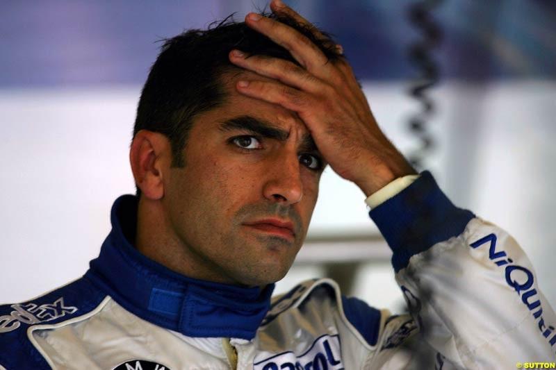 Marc Gene, BMW-Williams, British GP, Friday July 9th, 2004.