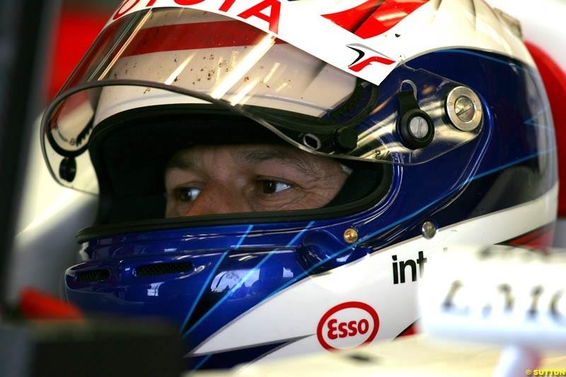 Olivier Panis, Toyota, British GP, Friday July 9th, 2004.