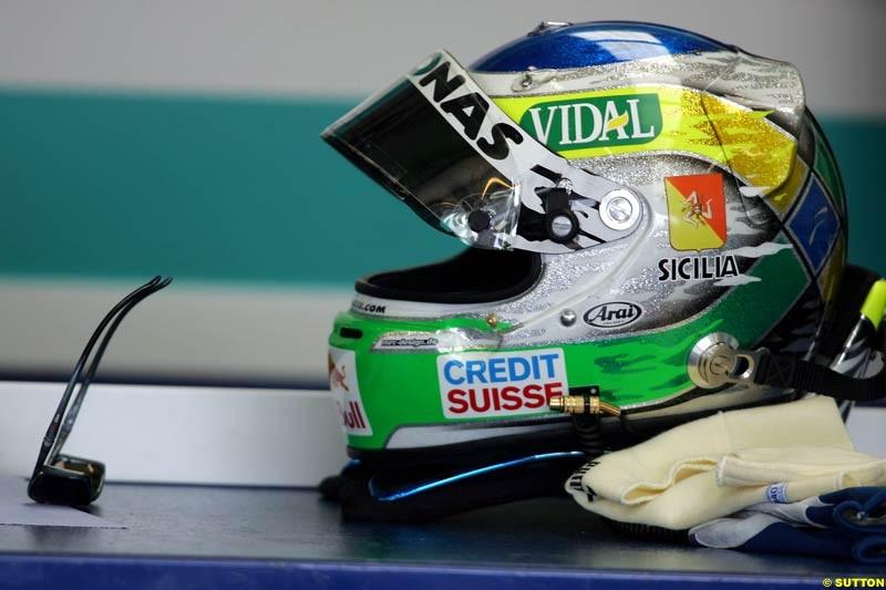 Giancarlo Fisichella, British GP, Friday July 9th, 2004.