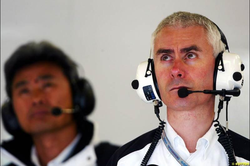 Geoff Willis, British GP, Friday July 9th, 2004.