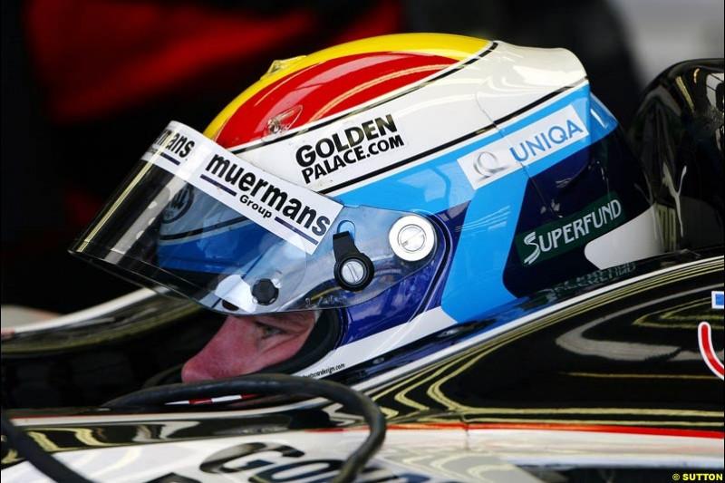 Bas Leinders, Minardi-Cosworth, British GP, Friday July 9th, 2004.