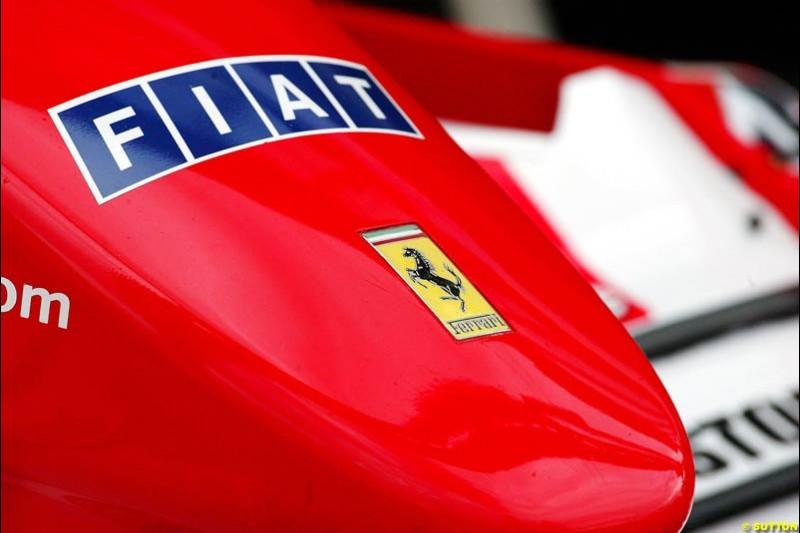 Ferrari, British GP, Friday July 9th, 2004.