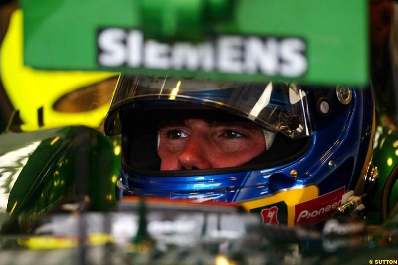 Bjorn Wirdheim, Jaguar, British GP, Friday July 9th, 2004.