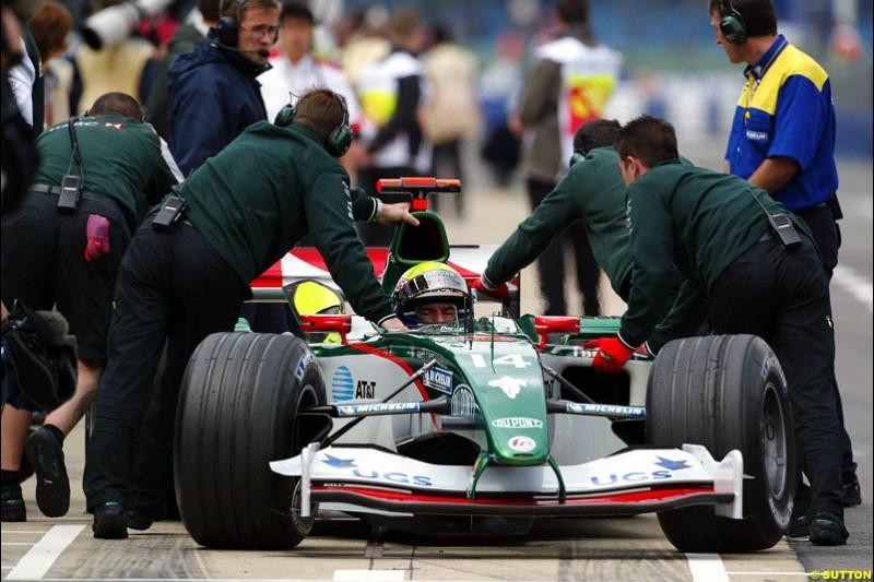 Mark Webber, Jaguar, British GP, Friday July 9th, 2004.