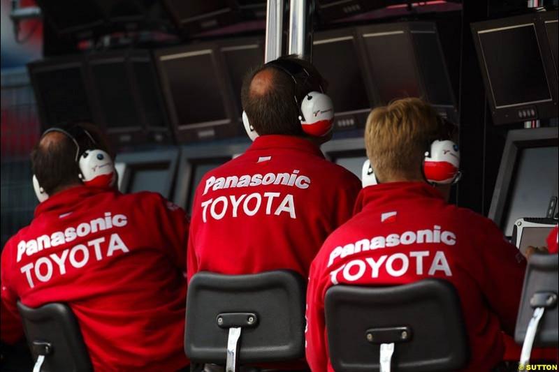 Toyota, British GP, Friday July 9th, 2004.