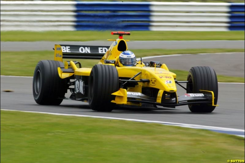 Nick Heidfeld, Jordan-Ford, British GP, Friday July 9th, 2004.