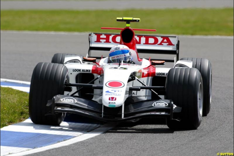 Anthony Davidson, BAR-Honda, British GP, Friday July 9th, 2004.