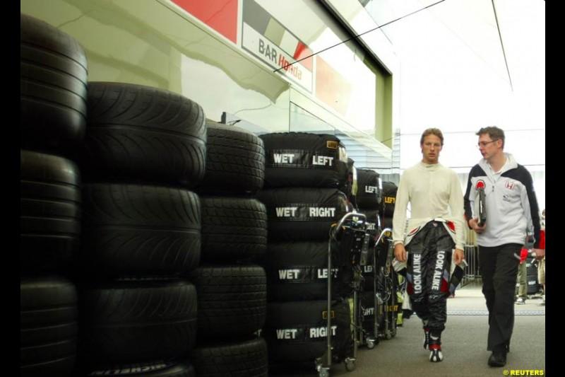 Jenson Button, British GP, Friday July 9th, 2004.