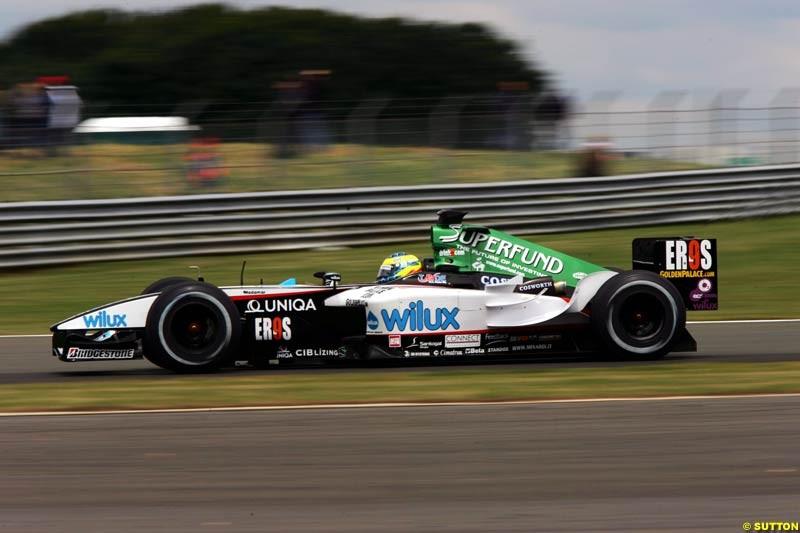 Zsolt Baumgartner, Minardi-Cosworth, British GP, Friday July 9th, 2004.
