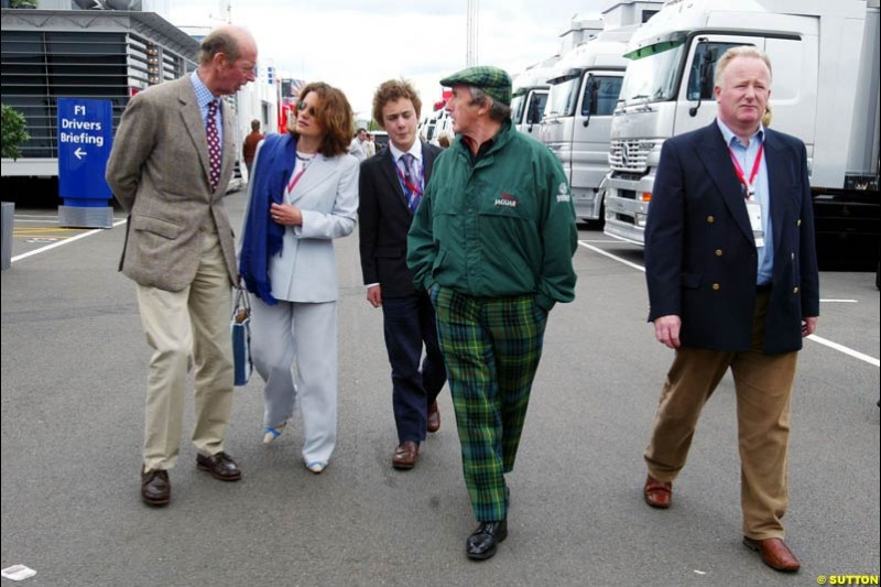 Sir Jackie Stewart and Duke of Kent, British GP, Friday July 9th, 2004.