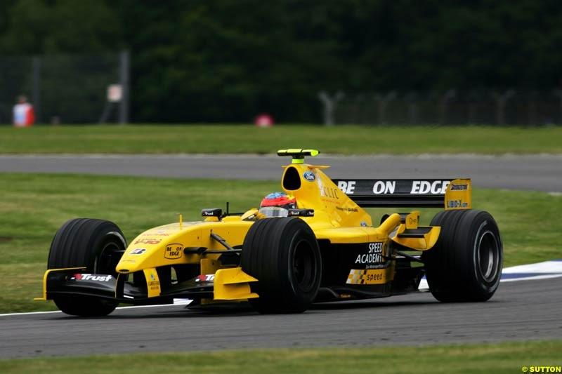 Timo Glock, Jordan-Ford, British GP, Friday July 9th, 2004.