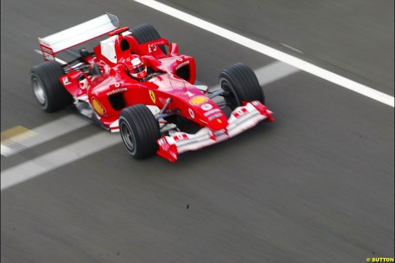 Rubens Barrichello, Ferrari, British GP, Friday July 9th, 2004.