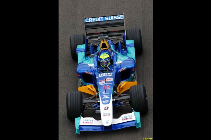 Felipe Massa, Sauber-Petronas, British GP, Friday July 9th, 2004.