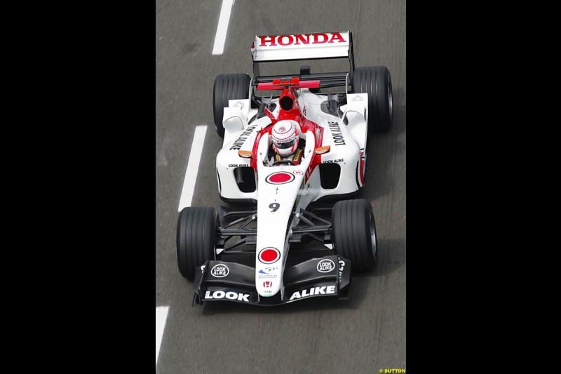 Jenson Button, BAR-Honda, British GP, Friday July 9th, 2004.